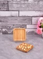 Bayev Ahşap Bambu Kare Mini Servis Renkli
